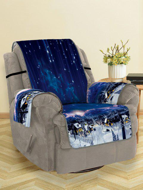 Christmas Starry Sky Pattern Couch Cover - NAVY BLUE SINGLE SEAT