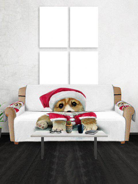Christmas Dog Couch Cover - WHITE THREE SEATS