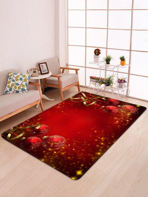 Red Christmas Balls Pattern Non-slip Area Rug - LAVA RED W47 X L63 INCH