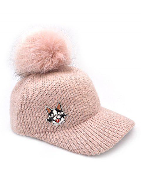 05dacada5 17% OFF] 2019 Puppy Dot Fuzzy Ball Baseball Cap In LIGHT PINK ...