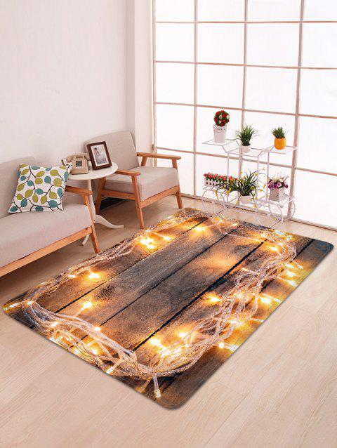 Lights on Board Pattern Non-slip Area Rug - multicolor W47 X L63 INCH