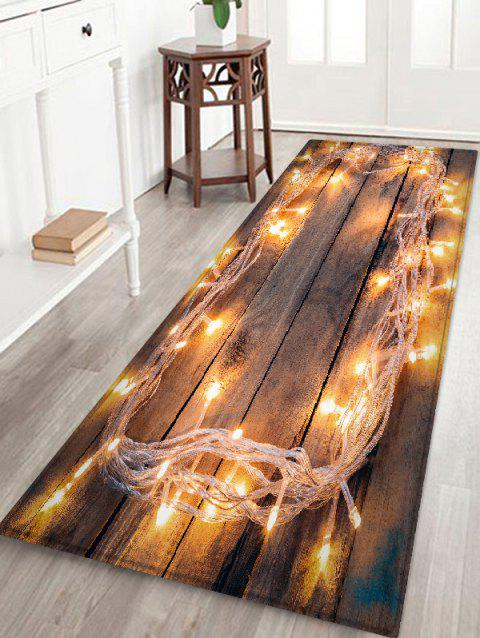 Lights on Board Pattern Non-slip Area Rug - multicolor W24 X L71 INCH