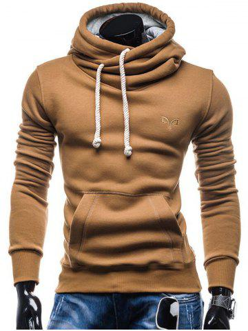 Whole Colored Drawstring Casual Hoodie 37b808840