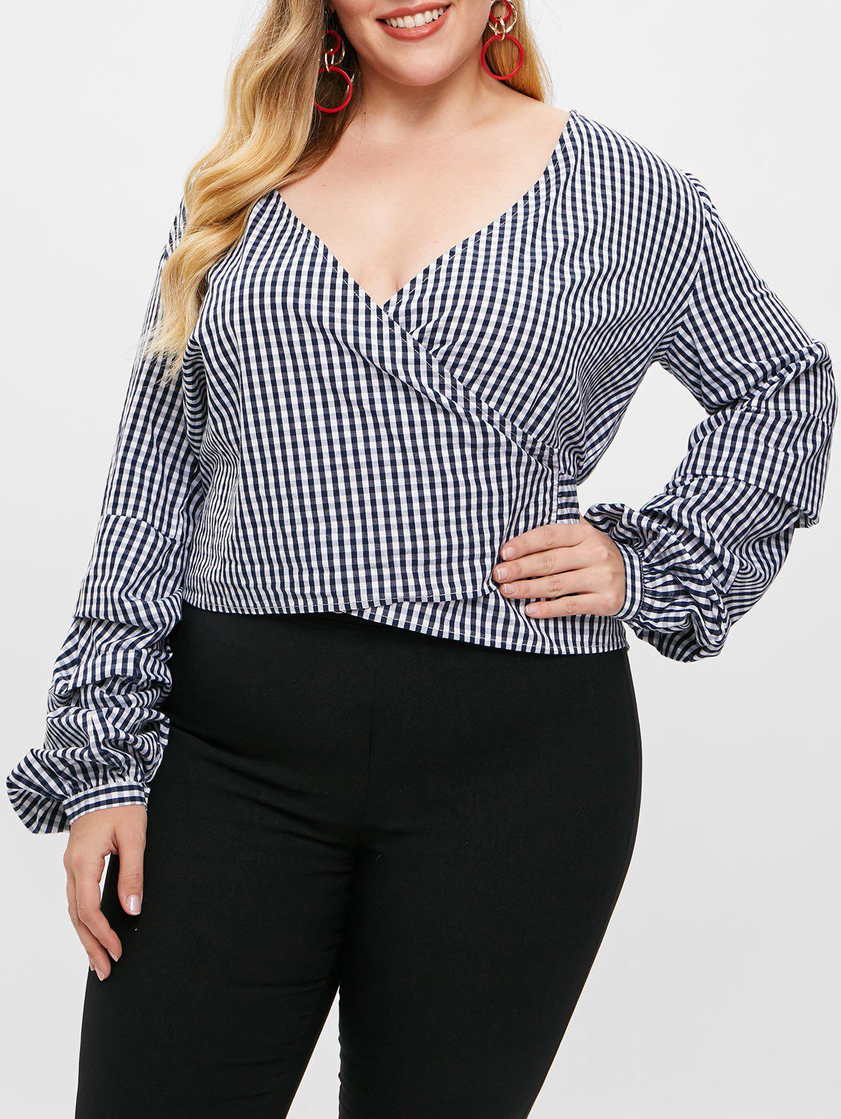 Plus Size Gingham Bo