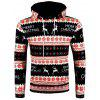 Christmas Geometry Pattern Long Sleeve Pullover Hoodie - BLACK 2XL