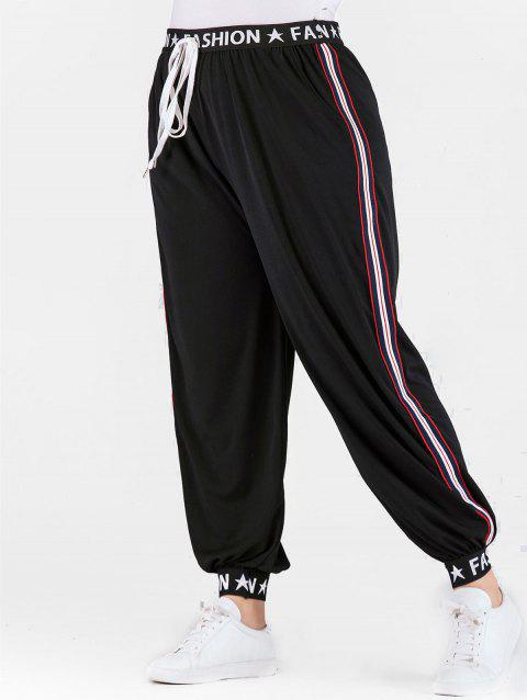 eb209f6064f LIMITED OFFER  2019 Plus Size Letters Jogger Pants with Ribbons In ...