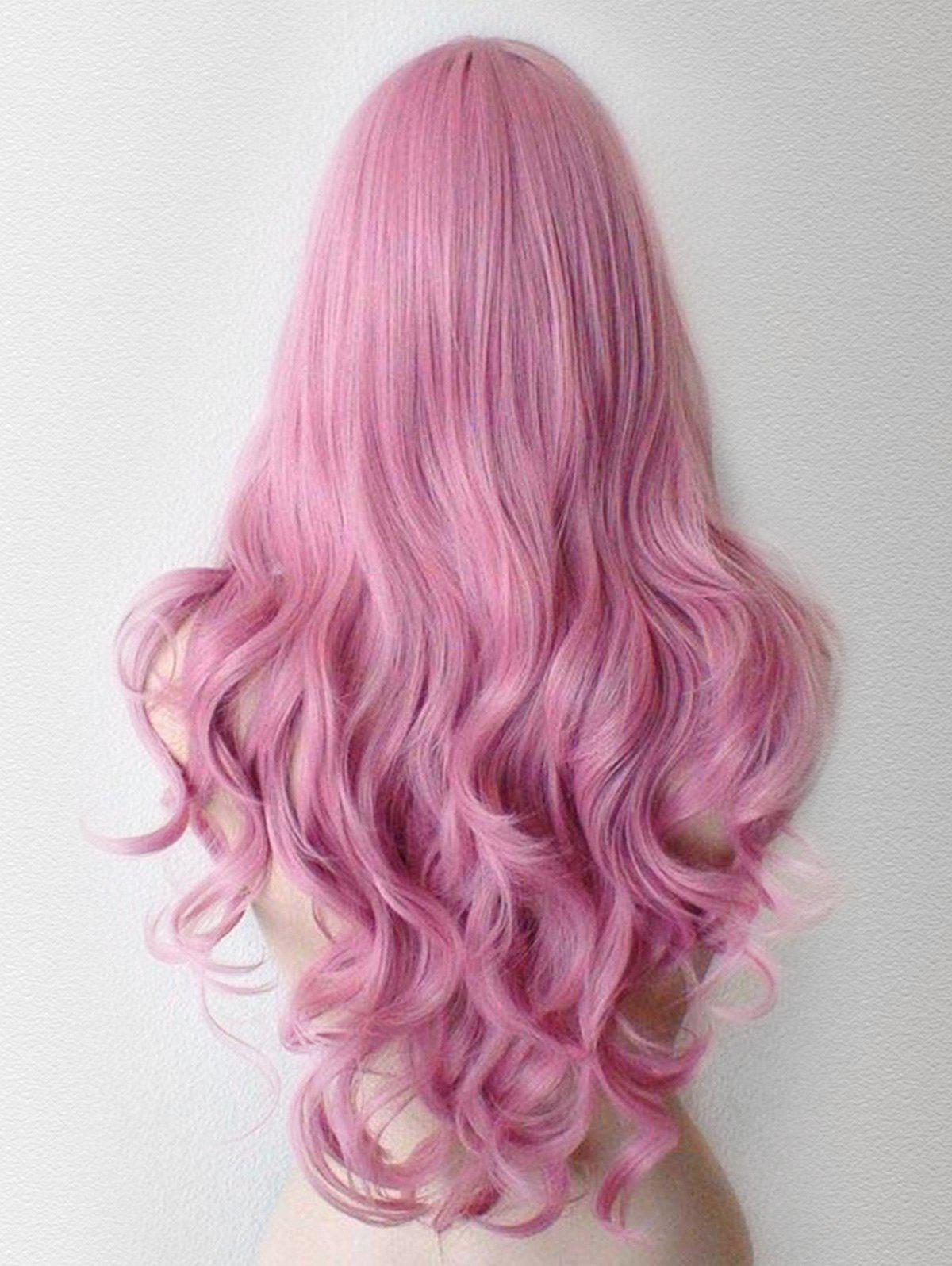 Long Wavy Lolita Cosplay Synthetic Wig - PINK