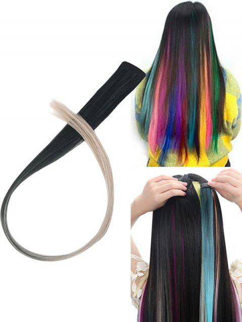 Hair Piece Synthetic Hair Extension - multicolor G