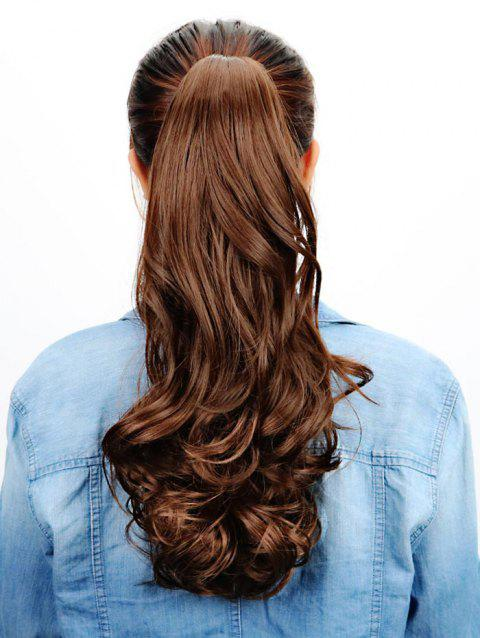 Hair Extension Synthetic Long Wavy Ponytail - DEEP BROWN