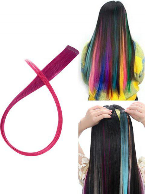 Hair Piece Synthetic Hair Extension - multicolor D