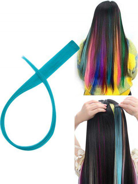 Hair Piece Synthetic Hair Extension - MACAW BLUE GREEN