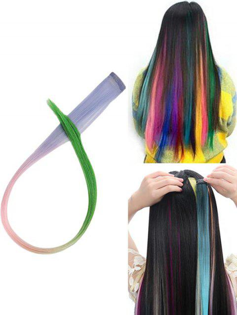 Hair Piece Synthetic Hair Extension - multicolor A