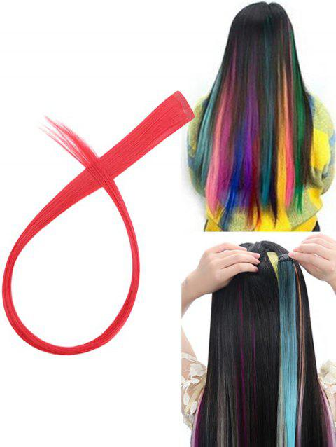 Hair Piece Synthetic Hair Extension - LAVA RED