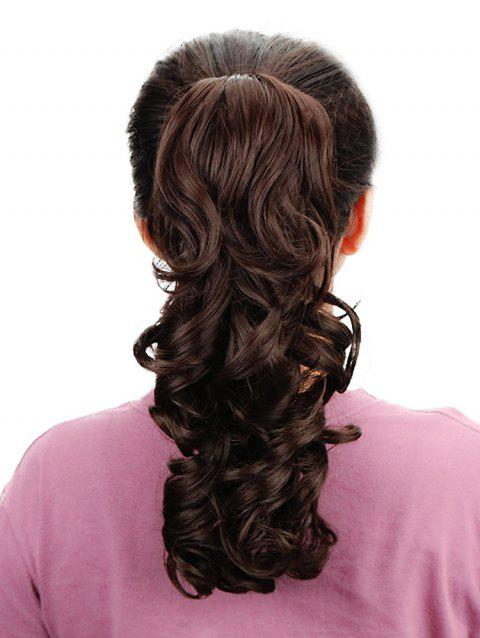 Medium Body Wave Synthetic Ponytail - DEEP BROWN