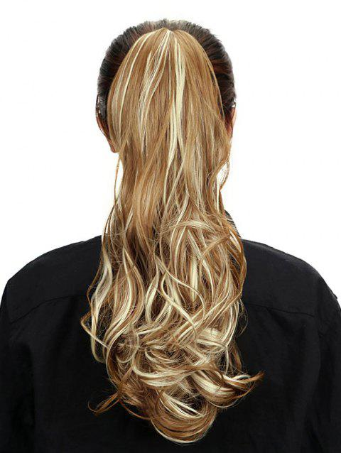Hair Extension Synthetic Long Wavy Ponytail - multicolor
