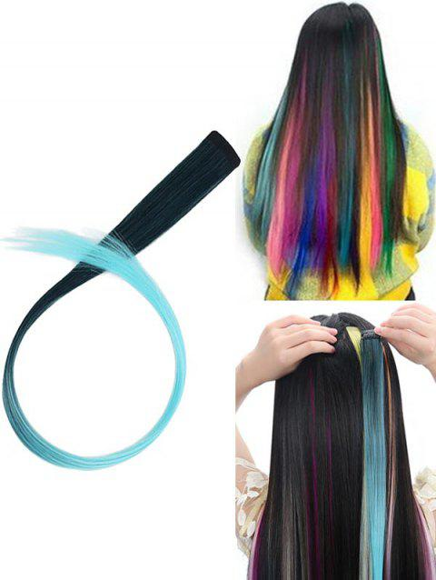 Hair Piece Synthetic Hair Extension - multicolor H