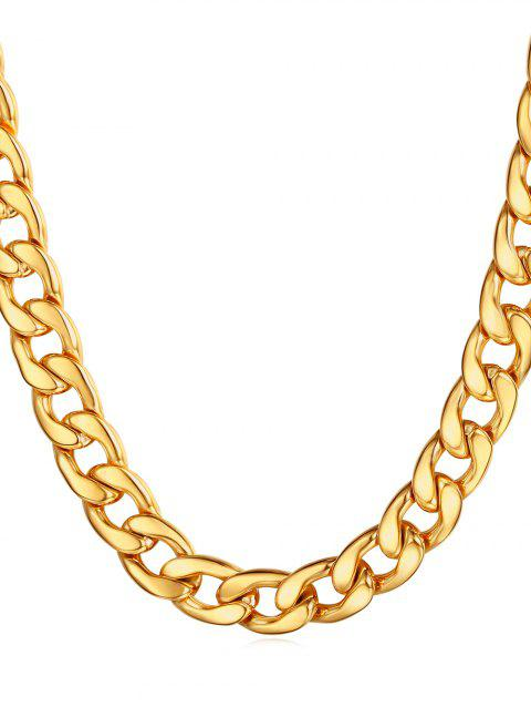 Simple Design Stainless Steel Chain Necklace - GOLD
