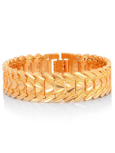Gold Plated Heart Decor Alloy Bracelet - GOLD