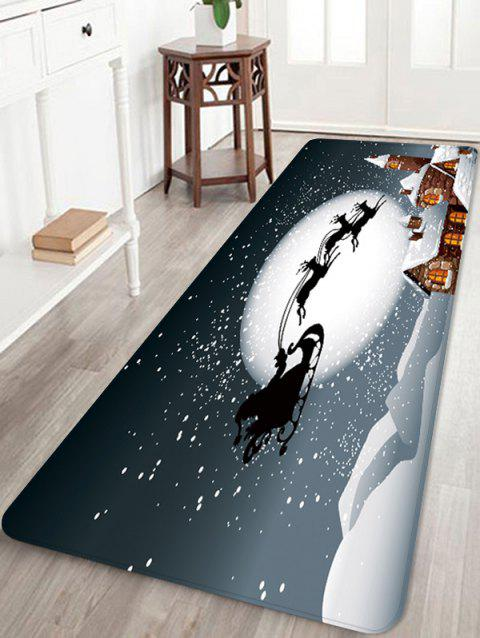 Christmas Deer Moon Printed Non-slip Area Rug - GRAY W16 X L47 INCH
