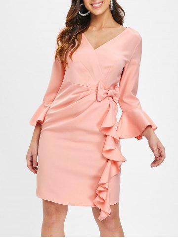 554d16794e0 2019 V Neck Bell Sleeve Dress Online Store. Best V Neck Bell Sleeve ...