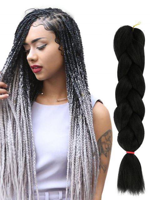 Long Big Braid Synthetic Hair Extension - BLACK