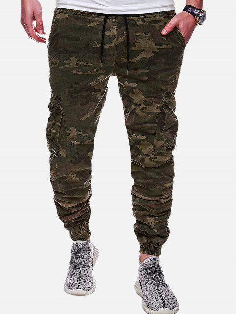 Casual Camouflage Printed Drawstring Jogger Pants - ACU CAMOUFLAGE L