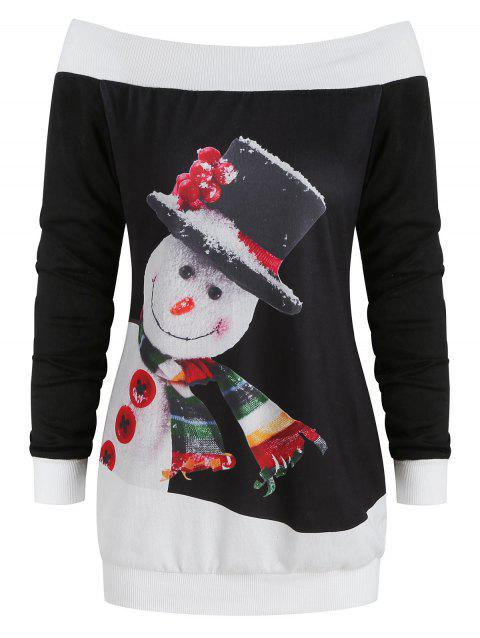 27c30583541 LIMITED OFFER  2019 Christmas Snowman Print Long Sleeve Sweater In ...