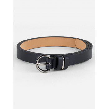 Simple Artificial Leather Skinny Pant Belt
