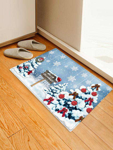 Christmas Tree and Snowflakes Pattern Non-slip Area Rug - multicolor W16 X L24 INCH
