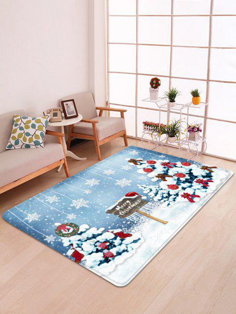 Christmas Tree and Snowflakes Pattern Non-slip Area Rug - multicolor W47 X L63 INCH