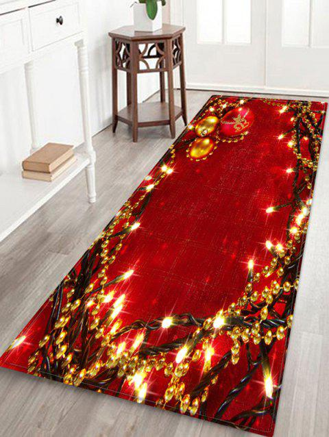 Christmas Light String Pattern Non-slip Area Rug - multicolor W16 X L47 INCH
