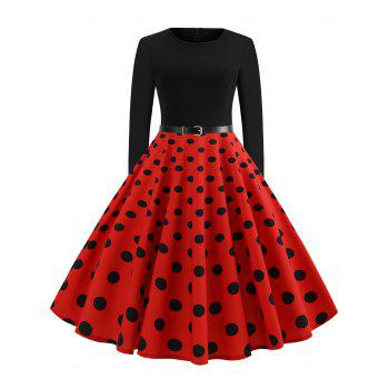 vintage-long-sleeve-polka-dot