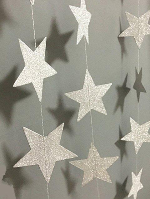 4M Christmas Hanging Decorations Glitter Stars - SILVER