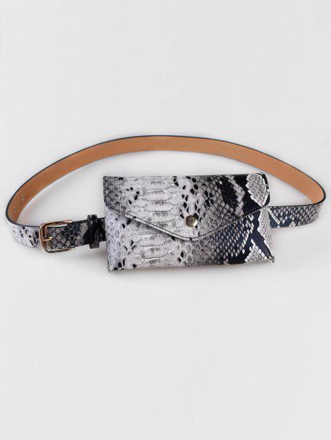 Snake Pattern Fanny Pack Waist Belt Bag - GRAY