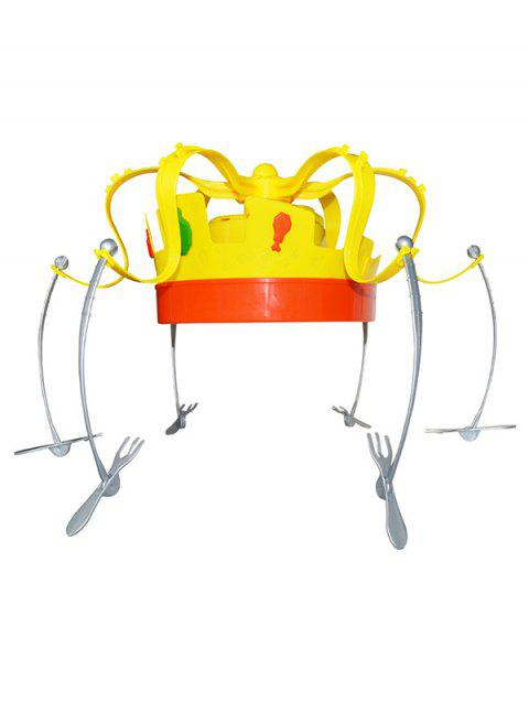 Creative Party Toy Crown food Hat - YELLOW