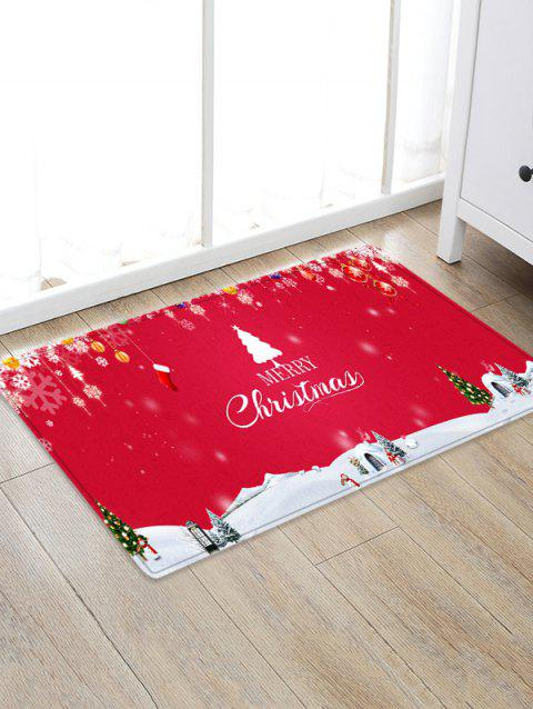 Christmas Patterns Printed Non-slip Area Rug - RED W20 X L31.5 INCH