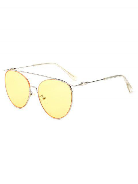 4576a2ebede 2019 UV Protection Crossbar Pilot Sunglasses In YELLOW