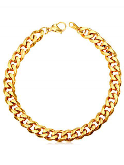 Metal Link Chain Design Bracelet - GOLD