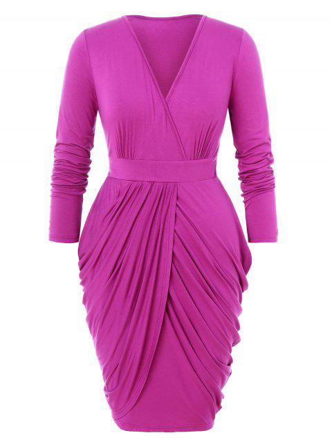 Plus Size Draped Tulip Dress