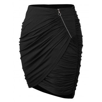 Plus Size Ruched Mini Skirt