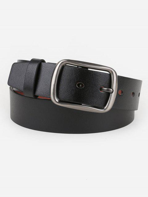 Pin Buckle Faux Leather Waist Belt - BLACK