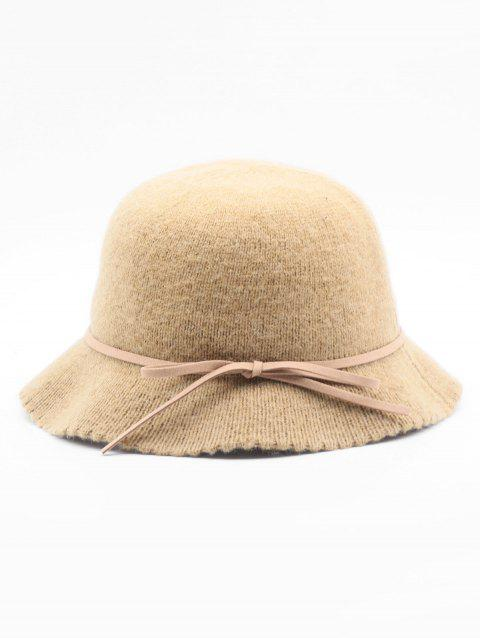 2019 Bowknot Solid Color Bucket Hat In CAMEL BROWN  88e34532c090