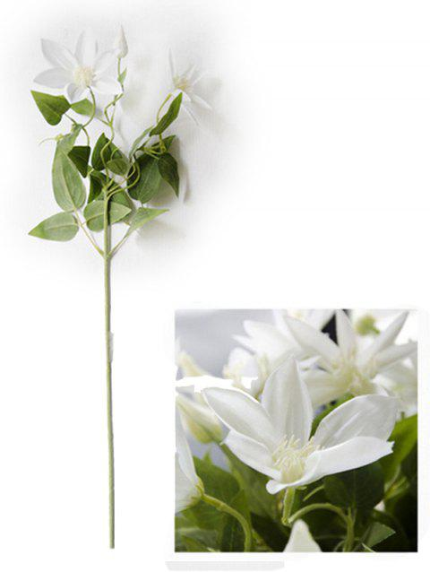 Home Decoration Artificial Clematis Flowers - WHITE