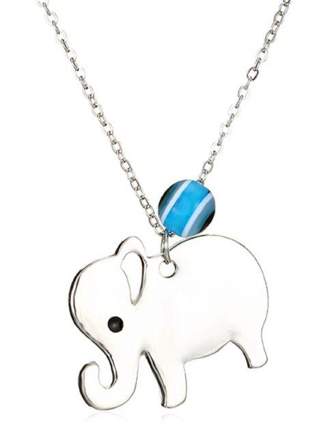 Elephant Pattern Hollow Design Necklace - SILVER