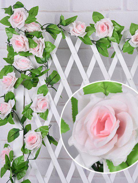 Artificial Rose Flower Garland Ivy Home Wedding Party Decoration - PIG PINK