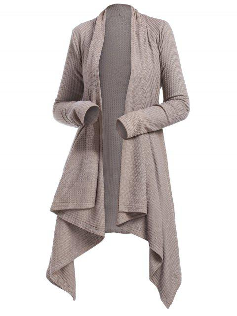151f9d2e6 17% OFF  2019 Belted Knitted Asymmetrical Long Cardigan In LIGHT ...