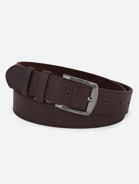 Fashion Faux Leather Pin Buckle Belt - COFFEE