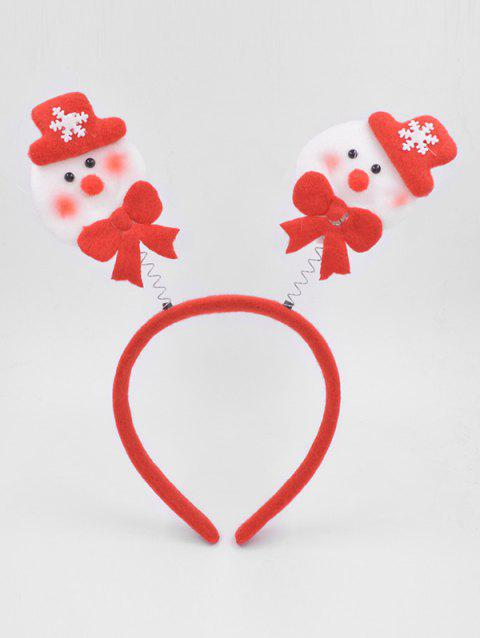 Christmas Snowman Party Hair Hoop - LAVA RED