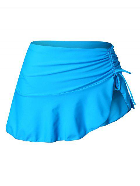 Plus Size Ruched Skirted Briefs - DEEP SKY BLUE 4X