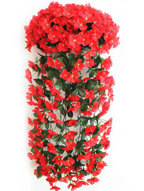 Violet Wall Hanging Artificial Vine Flowers - RED